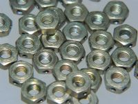 10 x M4 Nuts Drilled Cadmium Plated Steel Metric Nuts 3mm Height [P17]